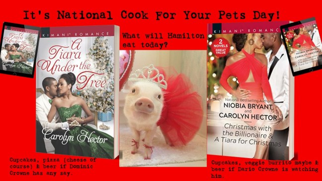 November 1st National cook for pets day